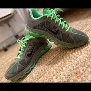Nike Shoes - Men's athletic Nike AirMax Sneakers grey green